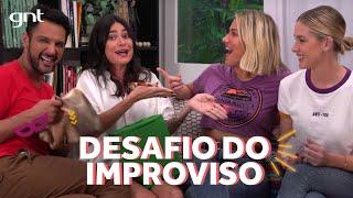 Thaila Ayala e Fiorella Mattheis são boas de improviso? | Gio Ewbank | Amores do Gioh no GNT