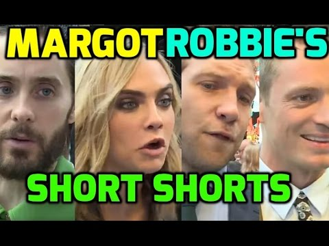 Suicide Squad cast have their say on Margot Robbie's SHORT shorts!