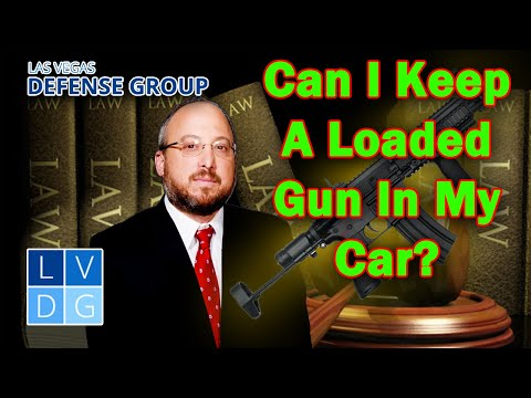 Can I keep a loaded gun in my car in Nevada? NRS 503.165