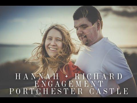 Hannah + Richard Engagement Session Portchester Castle, Hampshire