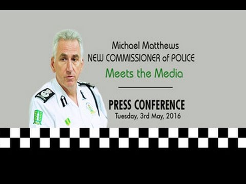 New Commissioner Michael Matthews Meets the Media