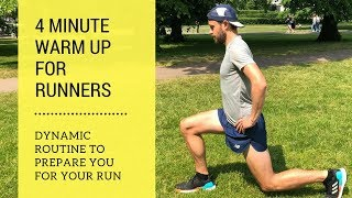 Runners Warm Up Routine - Quick and Easy - 4 minutes - Dynamic Stretches for Runners