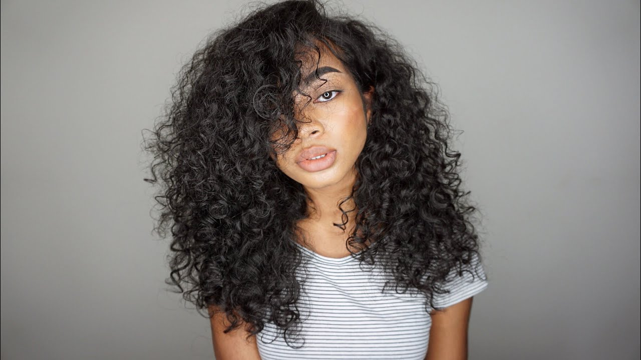 updated simple big curly hair routine
