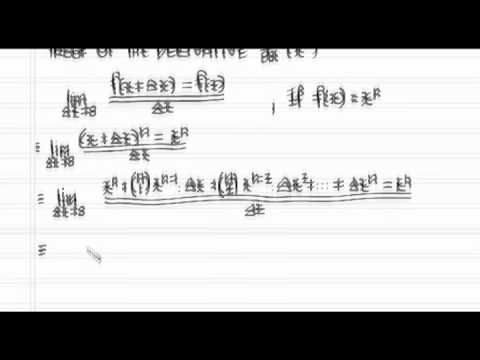 Proof of Derivative of f(x) = x^n