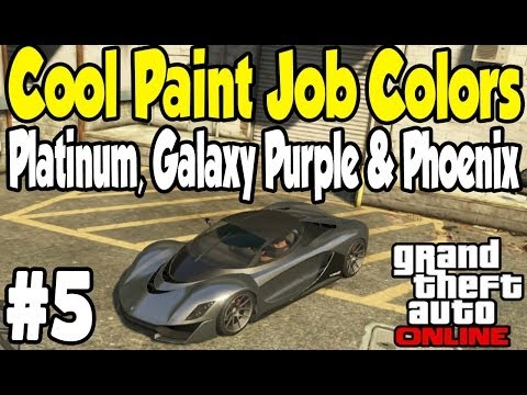 GTA Online - COOL PAINT JOB GUIDE #5 (Platinum, Galaxy Purple, & Phoenix) [GTA V Touch Up Tuesday]