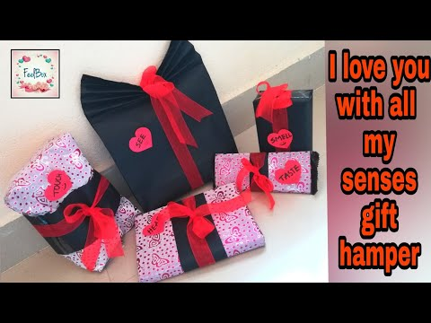 I love you with all my senses gift hamper | best gift for boyfriend | best gift for girlfriend