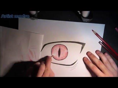 Demon S Eye Drawing Anime Manga Style Youtube