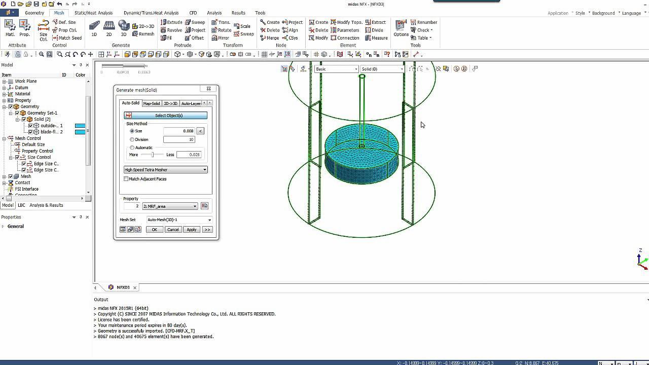 Stirred Tank Simulation using MRF Model (midas NFX) by Cyprien Rusu