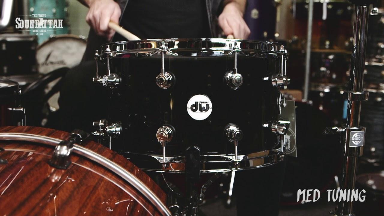 Dw Ltd Edition Design Acrylic 14x8 Snare Drum Smoke Acrylic Seamless Shell Youtube