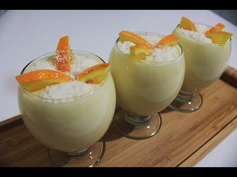 PRATİK Nefis Portakallı Sütlü Tatlı Tarifi - Çok Kolay ve Lezzetli Sütlü Tatlı Tarifi