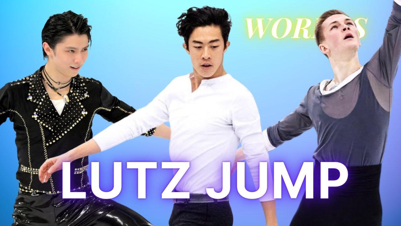 Best Men's Lutz Jump World Championships 2021   Lutz Edge Analysis Nathan Chen, Mikhail ...
