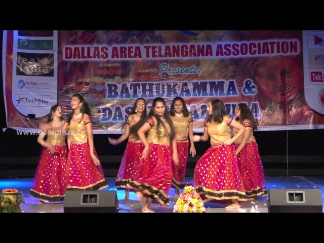 Group Medley Perforamnce at DATA Bathukamma & Dasara Panduga Celebrations  2016
