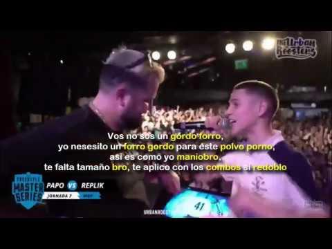 MINUTOS de PAPO vs REPLIK con LETRA | FMS Jornada 7