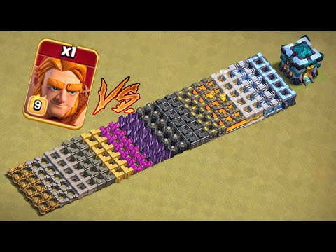 MAX SUPER GIANTS VS ALL WALL LEVELS🔥   CLASH OF CLANS  