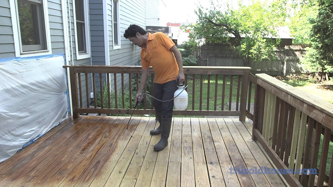 This Old House Deck Restoration Using