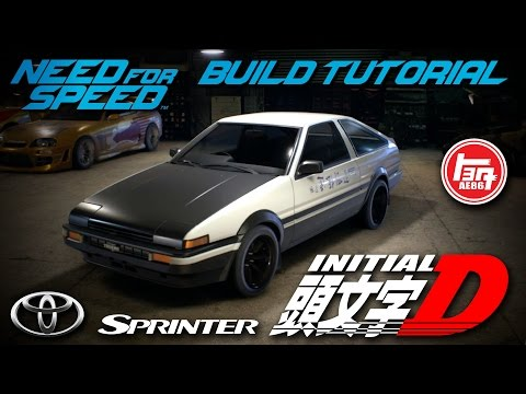 Need for Speed 2015 | Initial D Toyota Sprinter Trueno GT-APEX AE86 Build Tutorial | How To Make