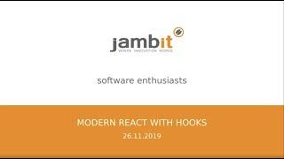 Modern React with Hooks | jambit Meetup Talk