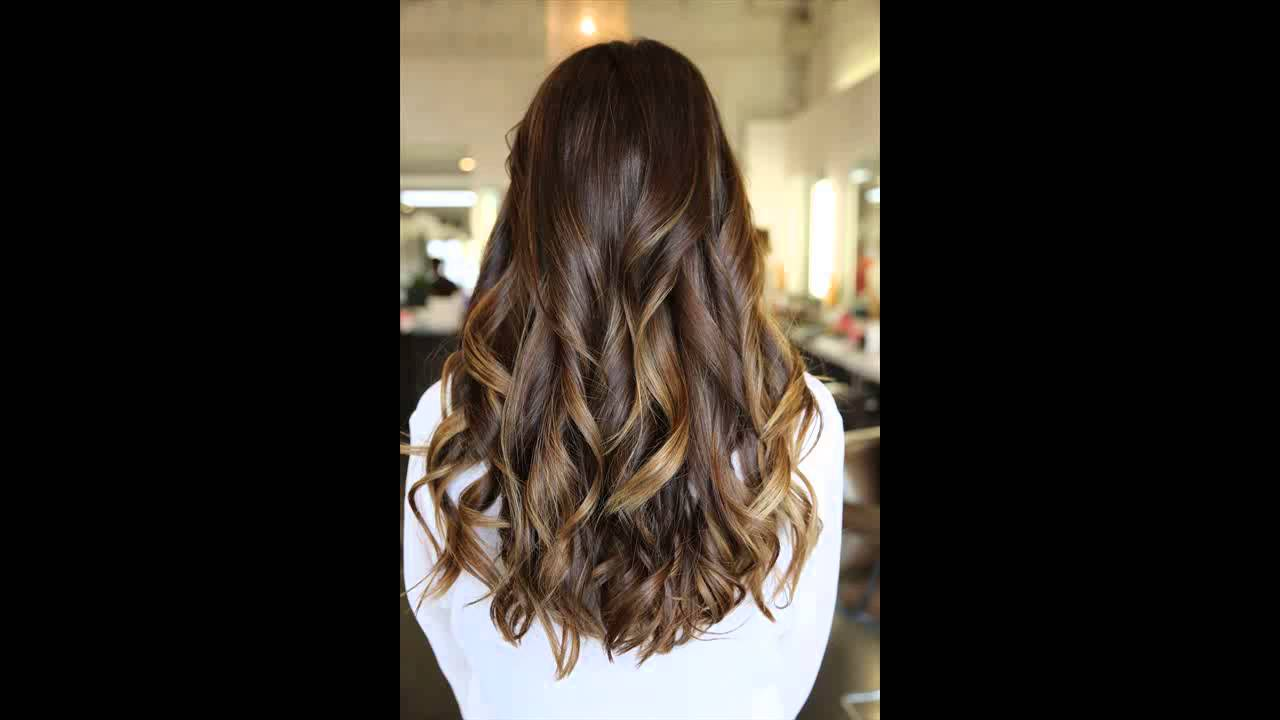 Dark Hair With Blonde And Caramel Highlights Youtube