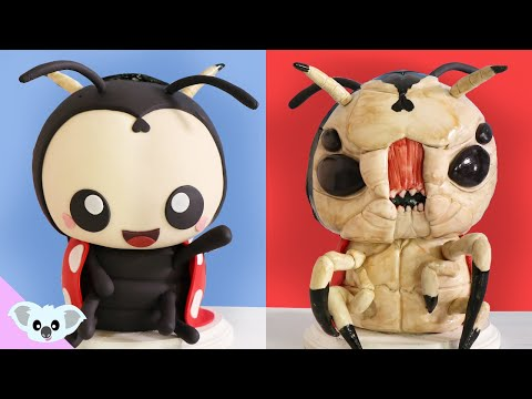 Cute and Scary LADY BUG Cake |  2 Faced Valentines Love Bug Ideas | Amazing Cakes | Koalipops