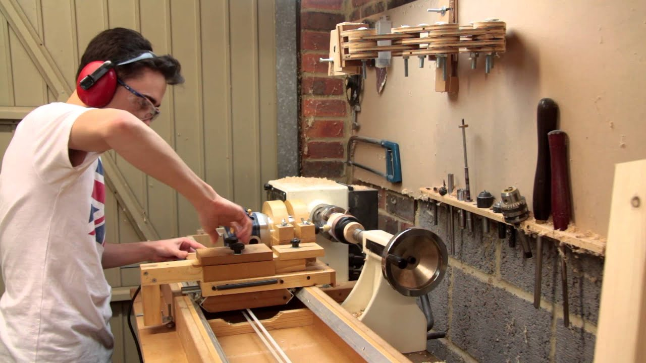 Making a Wooden Bangle | Router Lathe Carving - YouTube