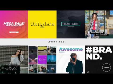 Instagram Bundle After Effects Template YouTube - Awesome after effects website template design