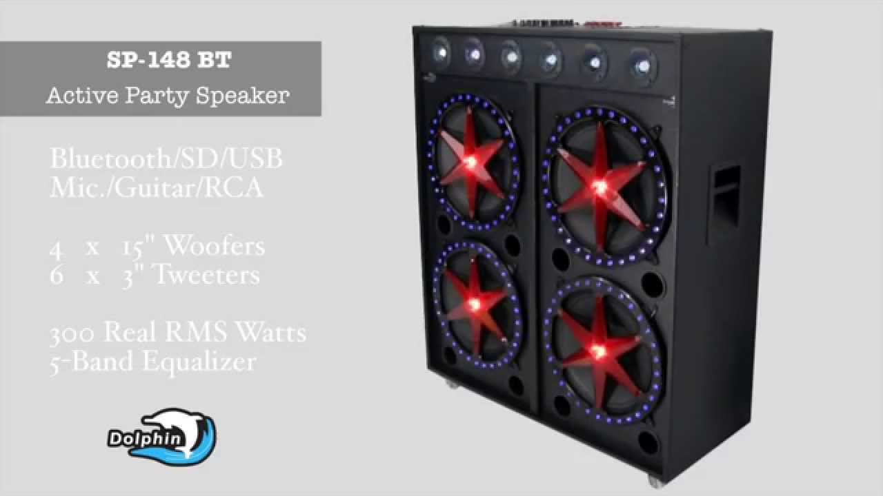 Dolphin Audio Sp 148 Active Dj Party Pa Speaker Youtube