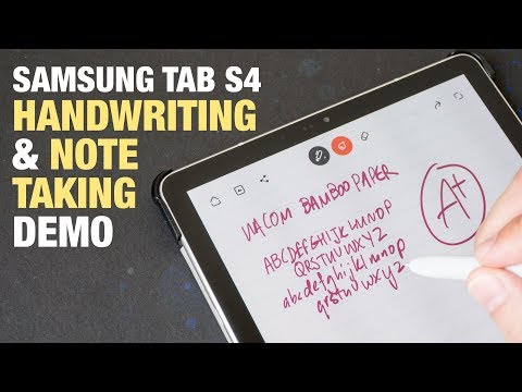 Note Taking Handwriting with Samsung Tab S4
