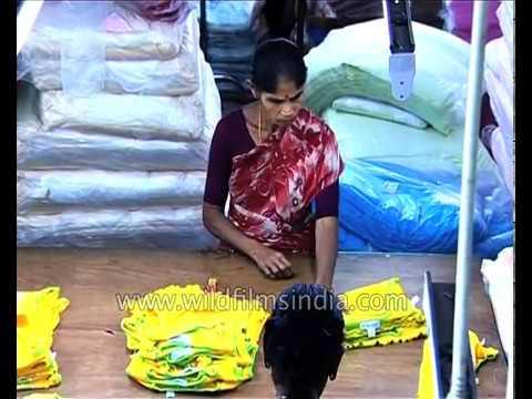 Hosiery manufacturing in Tirupur, Tamil Nadu