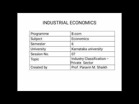 Industrial classification. -Private sector_ session 7
