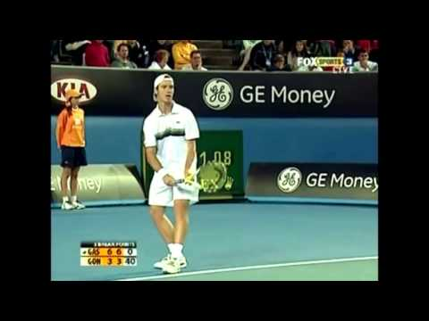 Another example of why the 2009 Australian Open was one of the best tournaments ever: 3rd round five set epic between Richard Gasquet and Fernando Gonzalez. Went to 12-10 in the fifth set!