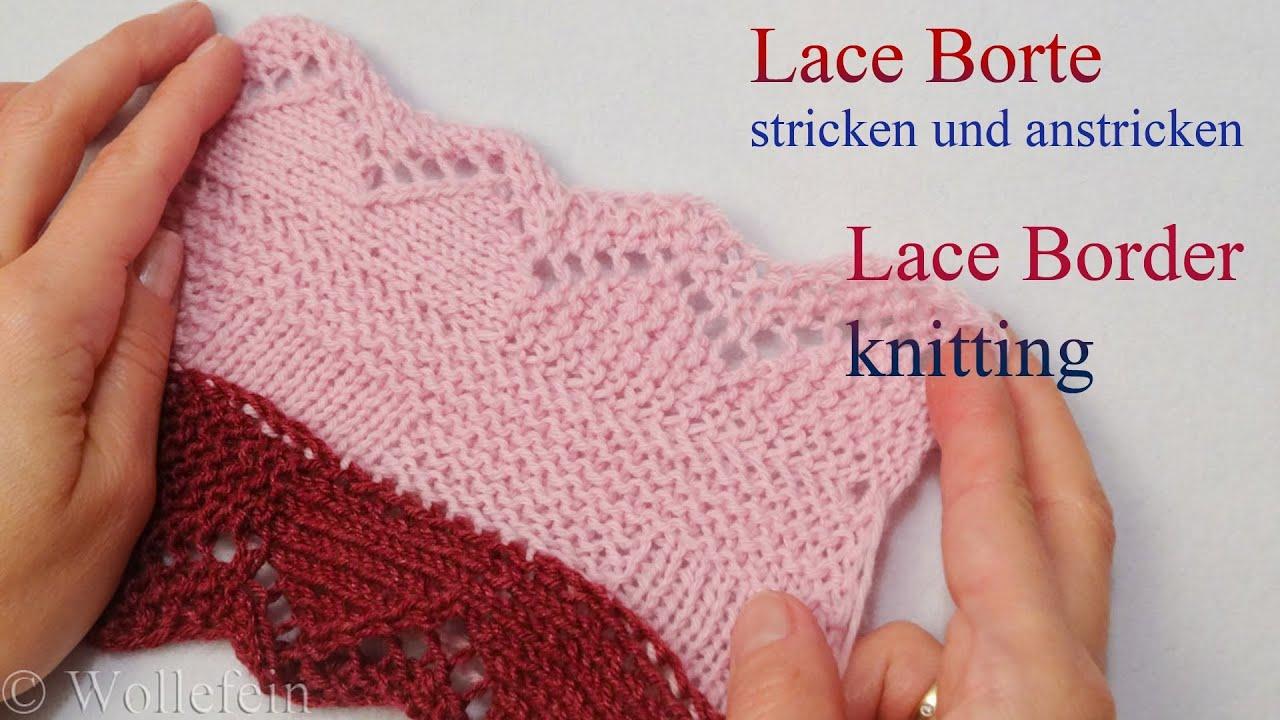 Knitting Lace Border : Lace bordüre stricken und anstricken knitting on