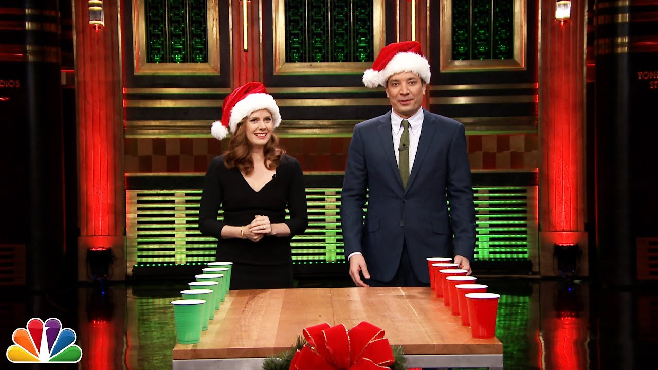 Holiday Flip Cup with Amy Adams - YouTube