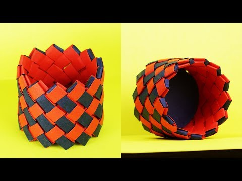 PAPER BASKET MAKING STEP BY STEP TUTORIAL -  Home Decoration Ideas