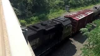 Extra Extra Long Oil Train w CSX + NS Power