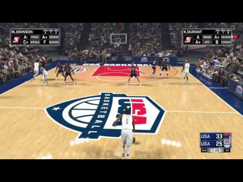 NBA 2K17 1992 DREAM TEAM VS 2016 USA TEAM Gameplay