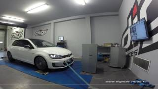 VW Golf 7 GTI 220cv Reprogrammation Moteur @ 303cv Digiservices Paris 77 Dyno
