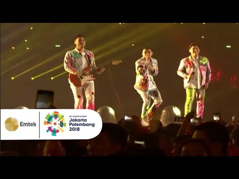 RAN - Pandangan Pertama, Inikah Cinta, Malam Ini Indah | Closing Ceremony Asian Games 2018