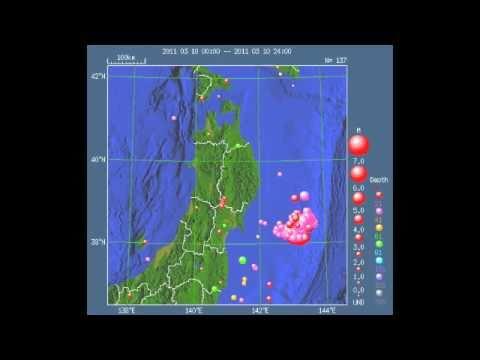 震源 東日本 地 大震災