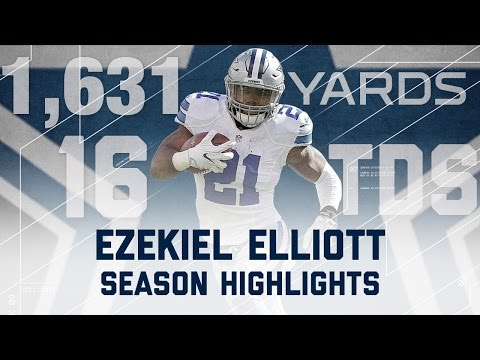 ezekiel elliott 2016 rookie season highlights dallas cowboys nfl