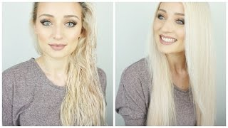 How to: Haare glatt föhnen   OlesjasWelt