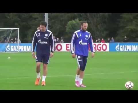 Schalke Auftakttraining mit Roberto Di Matteo unter den Augen von Horst Held