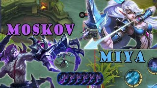 Test Skill dan Attack Speed Terbaik - MIYA vs MOSKOV Mobile Legends