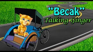 Video Naik Becak - Talking Ginger2 - Lagu Anak Indonesia Terpopuler download MP3, 3GP, MP4, WEBM, AVI, FLV Maret 2018