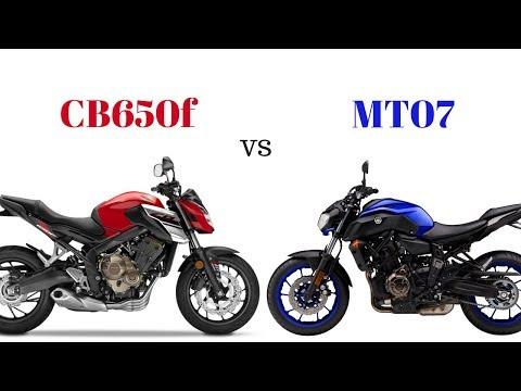 Honda CB650f vs Yamaha MT07