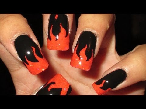 Hunger Games Catching Fire Girl On Fire French Tips Nail Art