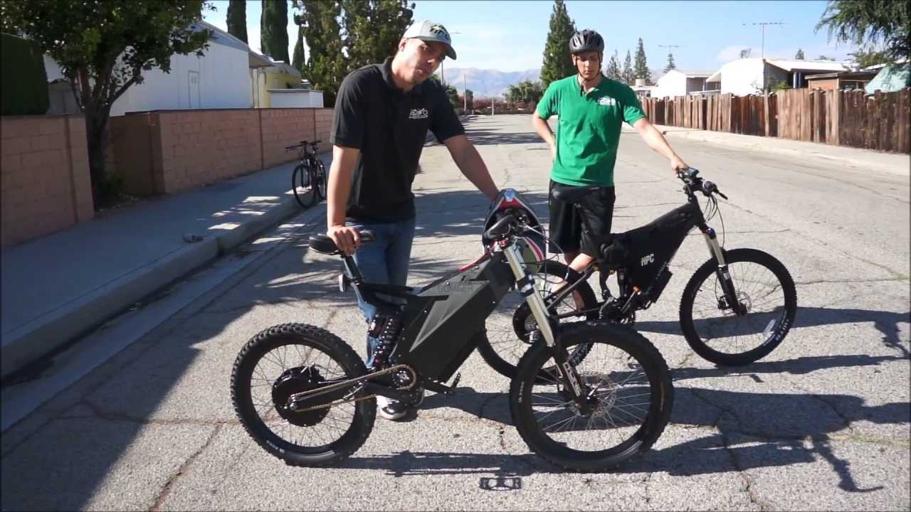 96b8c4fb5b8 Stealth Bomber VS. HPC XC-2 4500W Electric Bike Comparison and Race -  YouTube