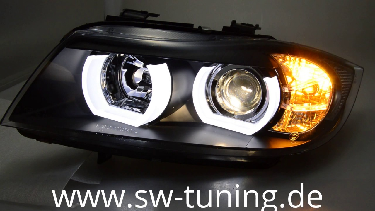 Sw Ltube Angel Eye Scheinwerfer F 252 R 3er Bmw E90 E91 05 13 High U Led Standlicht Black Sw Tuning