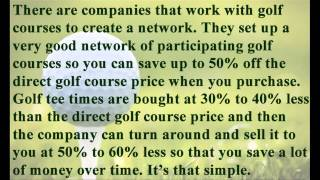 About Golf Tee Times