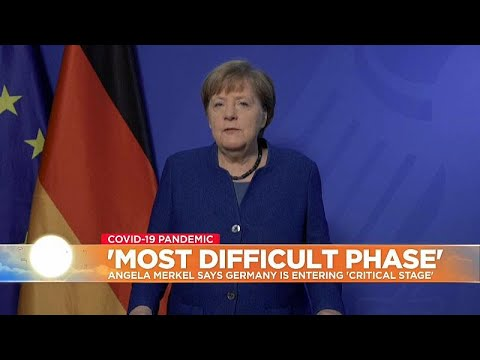 Merkel warns that Germany is entering critical stage as virus accelerates across Europe