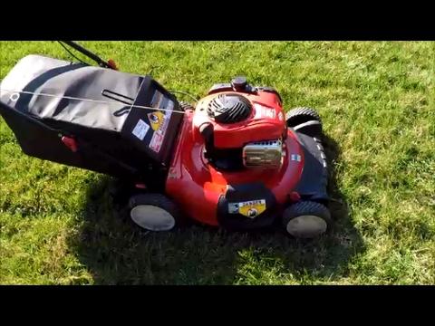 Troy Bilt TB110 Lawn Mower B&S 550EX Series Engine - Final Look & Start -  Feb. 15, 2017